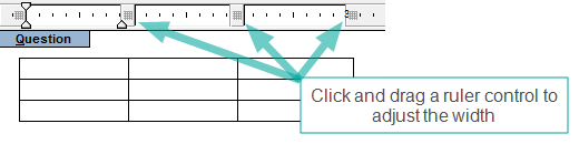 Adjusting Table Cell Height and Width