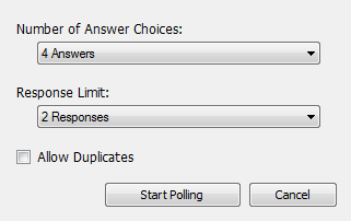 Quick Poll Question Types
